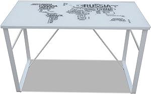 vidaXL Escritorio Rectangular con mapamundi Impreso