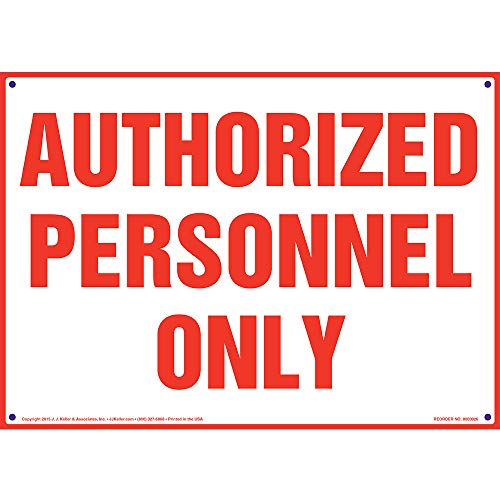 Authorized Personnel Only Sign - J. J. Keller & Associates - 14