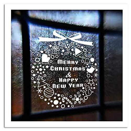 VIOYO Fenêtre en Verre PVC Mur Autocollant Cadeau De Noël Flocon De Neige Campanula Arbre Home Decal Joyeux Noël Décor Home Supplies