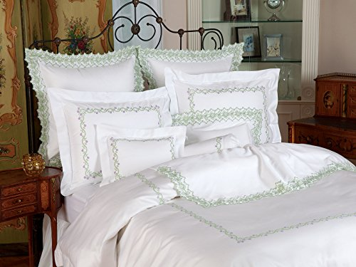 For Sale! Schweitzer Linen Dutch Tulips Duvet Covers (Comforter Covers), Peach (King, Each)