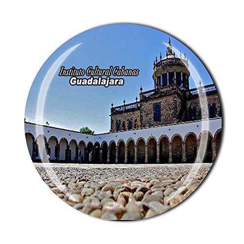 Time Traveler Go Instituto Culturale Cabanas Guadalajara Viaggi Souvenir Regalo 3D Cristallo Frigorifero Magnete Decorazione Casa Cucina Adesivo Magnetico