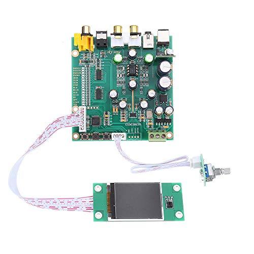 SHANG-JUN Fácil de Montar Q2M Audio DAC DSD Decoder Tablero Soporte IIS DSD Ingreso de Fibra coaxial 384kHz DOP con OLED D5-001 ES9038 Conveniente (Color : Type 2)