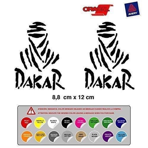 STICKER ADESIVO RALLY DAKAR AUTO MOTORRAD FUSTELLATE ALTA Qualità 16 colori disponibili KIT 2 Unità