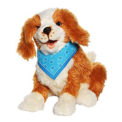 JOY FOR ALL - Freckled Pup - Brown and White Soft-Touch Coat - Realistic and Lifelike Interactive Companion Pets