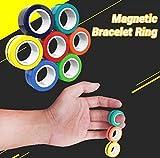 Ecisi 3 Piezas de Juguetes de Anillo magnético, Juguetes de Punta de Dedo magnético, Herramientas de Accesorios de Anillo mágico para descomprimir, Pulsera magnética para el Rendimiento de Festivales