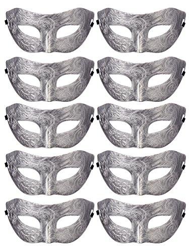 Retro Masquerade Mask Mardi Gras Costume Party Supply(Pack Of 10)