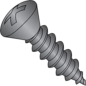 #6-20 Thread Size 1-1//2 Length Pack of 6000 82 degrees Oval Head Steel Sheet Metal Screw Zinc Plated Phillips Drive Type AB