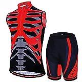 Rennradtrikot - High Stretch Wicking Sports Mountainbike-Anzug 3D-Hosenpolster Atmungsaktiv Bequem Radfahren Freizeitkleidung -