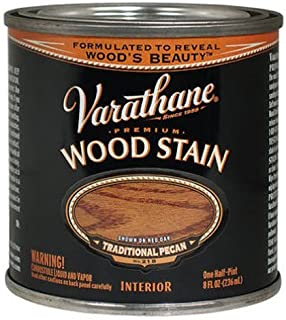 Varathane 211790 Premium Wood Stain, Half Pint, Traditional Pecan