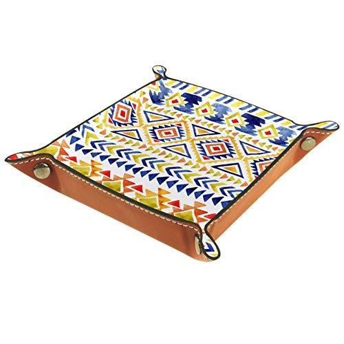 Würfeltablett, faltbares Tablett aus PU-Leder für RPG Würfel, Gaming und andere Brettspiele, Boho, Bohemia Tribe