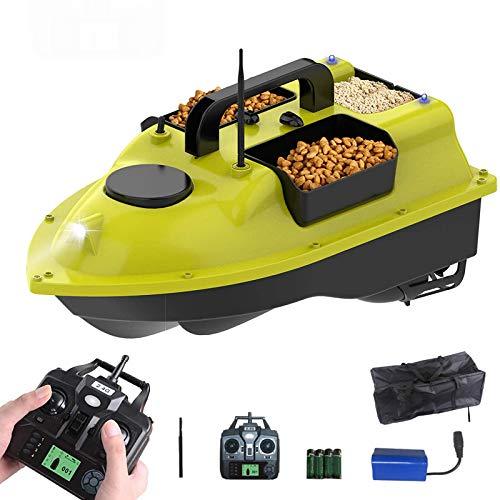 XIAOKUKU Fischfinder Futterboot 500m kabelloses GPS Angeln RC Boot Doppelmotor-Kreuzfahrt Fischköder Köderboot 4,4 lb Ladung mit Aufbewahrungstasche für Seen, Angelbegeisterte, Fischer