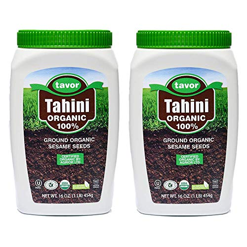 Tavor Tahini Organic - (454GR X 2) - Pasta de sésamo orgánica de origen Humera: adecuada para veganos, sin gluten, sin nueces y kosher