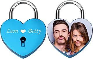 Personalized Love Heart Lock Engraving Photo