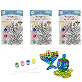 Hanukkah Sun Catcher - Stained Glass Look - Paint Your on Menorah and Dreidel - Fun and Educational (3-Pack)