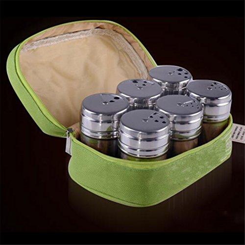 RoseFlower® 6 Stück hochwertige Edelstahl Gewürzregal für Küchenschrank, Gewürze Regal Mit Platz Für Salz- & Pfefferstreuer Und Viele Andere Gewürze #2