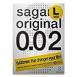 Sagami Original 0.02 L tamaño (2ª generación), 58 mm, paquete de 1 preservativo de poliuretano
