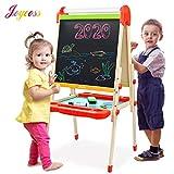 Joyooss Kids Wooden Art Easel with Paper Roll -Double Sided Whiteboard & Chalkboard Children Easel -Adjustable...
