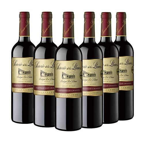 Señorío de los Llanos Crianza - Vino Tinto D.O. Valdepeñas - Caja de 6 Botellas x 750 ml