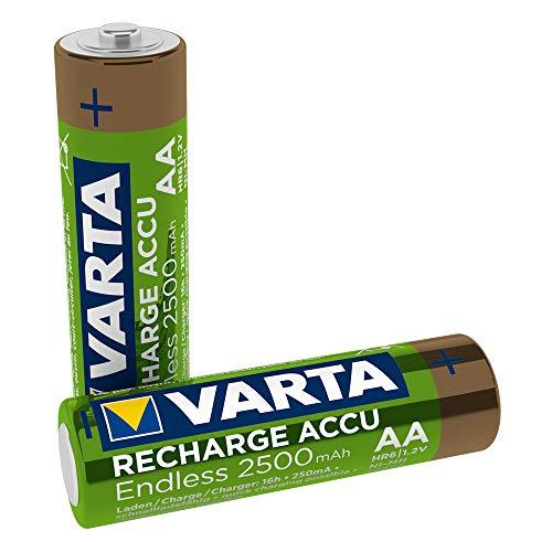Varta Rechargeable Accu Endless Energy AA 2500 mAh Blister, 2er Pack