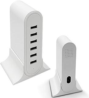 USB 充電器 USB コンセント ACアダプター 自動判別大容量6台同時充電 USBポート PSE認証済みiPhone/ipad/Android 各種対応 USB急速充電器