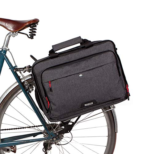 Two Wheel Gear - Pannier Laptop Messenger Bike Bag - Waterproof Coated with Quick Release Clip and Rain Cover, Perfect for Office Commuters, Graphite Gray, 20L