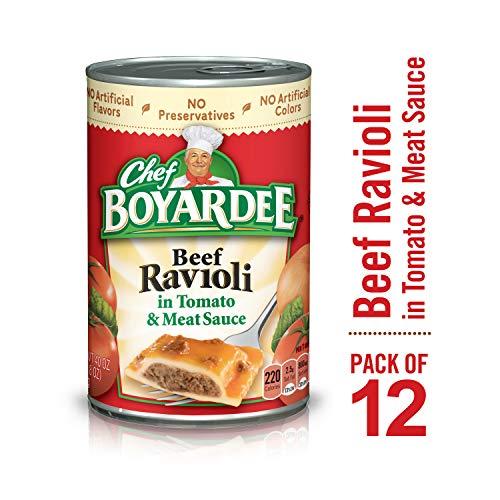 Chef Boyardee Beef Ravioli, 40 oz, 12 Pack