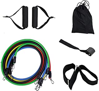 11Pcs/Set Resistance Bands Yoga Fitness Rubber Tubes Expander Band Stretch Training Home Gyms Exercise Workout Elastic Pul...