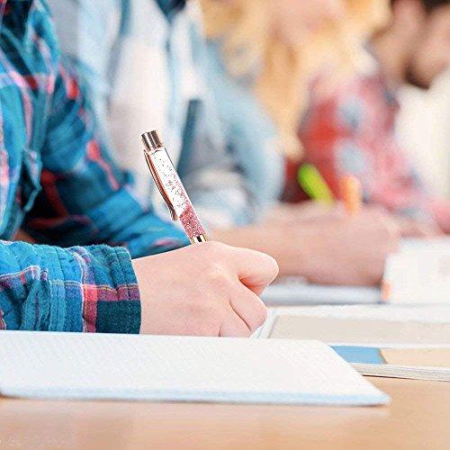 Ballpoint Pens,Rose Gold Metal Pen Refills Bling Glitter Sand glass Advertisement Pen Black Ink for Office Supplies Photo #4