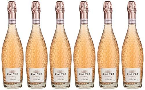 Calvet Celebration, Premium Rosé Sekt aus Frankreich, (6 X 0,75 l)