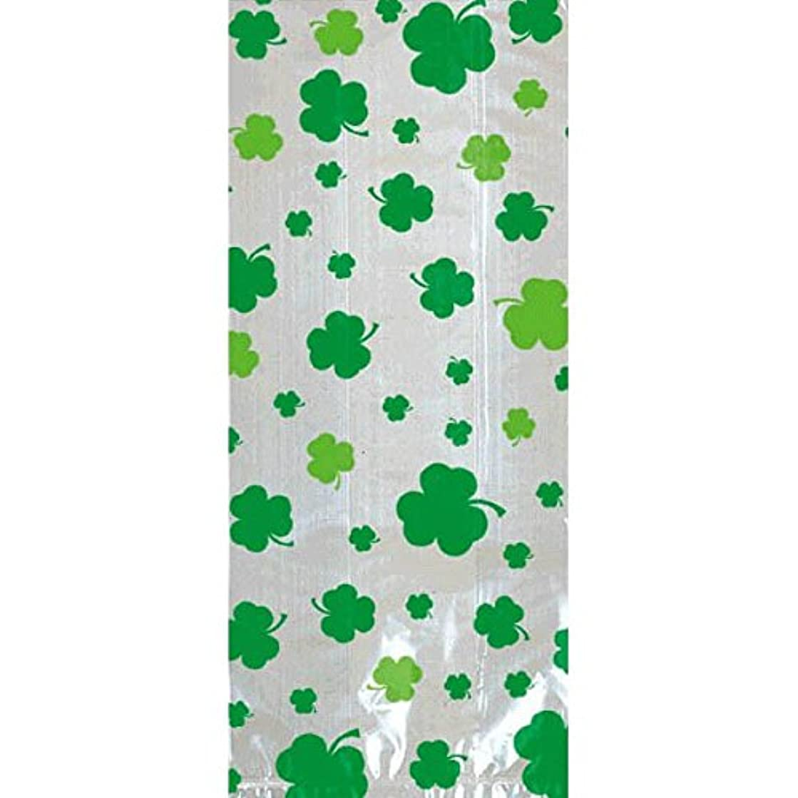 Amscan 378965 St. Patrick's Day Large Cello Party Bags, 11 1/2