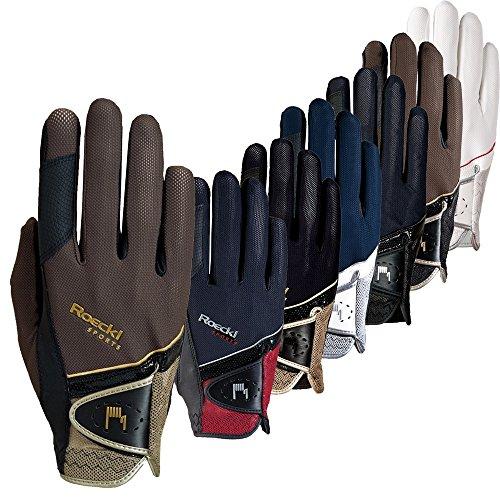 Roeckl Sports Handschuh Madrid, Unisex Reithandschuh, Schwarz, Größe 8,5