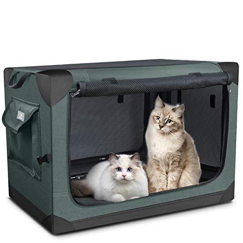 PUPPY KITTY Caja Plegable para Perros para Gatos y Perros Medianos, Jaula Portátil de...
