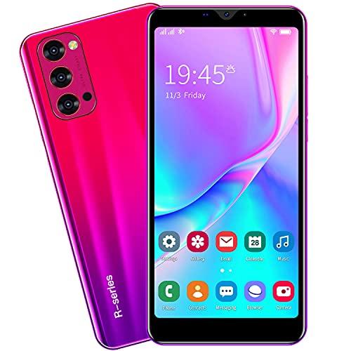 3G Cellulari e Smartphone, 5.5'' IPS Display, Android OS, 4GB ROM/32GB Espandibili, Batteria 2800mAh, Dual SIM Doppia Fotocamera Telefono Cellulare in Offerta GPS WIFI Bluetooth (Rino4-Red)
