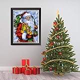 ganlanshu Pintura sin Marco Año Nuevo Vacaciones Decoración navideña Decoración de la Pared Arte de la Pared Pintura Arte Decoración de SantaZGQ3142 50X70cm