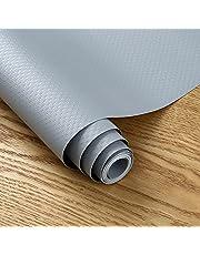 PROHOUS Waterdichte ladenmat Eva 45 x 200 cm antislipmat grijs kastmat antislip kastpapier koelkastmat mat voor rekken kasten laden koelkast huis kantoor