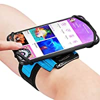 COMPATIBLITY - Just leave your smartphone in your protective case. This athletic band can be stretched to support an iPad mini screen up to 7.9 inch. So any cellphone measuring this size or less is included. Even though nowadays phones are getting bi...