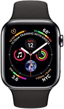 Apple Watch Series 4 (GPS + Cellular, 44MM) - Space Black Stainless Steel Case with Black Sport Band (Renewed)