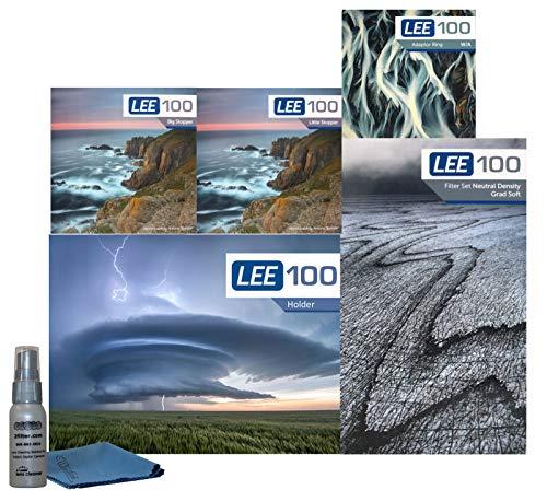 LEE Filters LEE100 67 mm Landschaft Pro Kit – LEE100 Filterhalter, Lee 100 mm Soft Edge Set Graduated ND Filters LEE 100 mm Big Stopper und kleiner Stopper und 67 mm Weitwinkel-Adapterring
