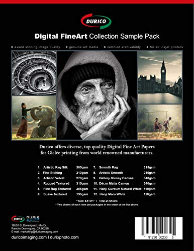 FineArt Trial Kit Inkjet Photo Paper (8.5-x-11-inch/two sheets of 10 Different Fine Art Items)