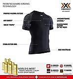 X-Bionic Invent Light Shirt Round Neck Short Sleeve Men, T Uomo, Opal Black/Arctic White, ...