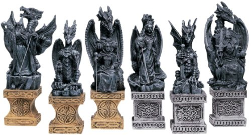 Classic Celtic Dragon Chess Pieces