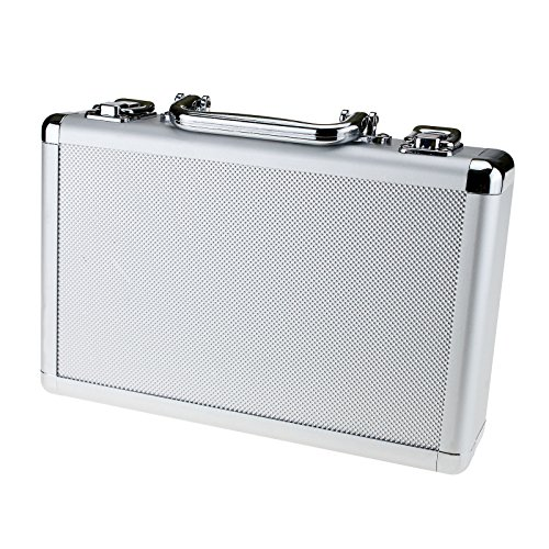 Aluminum Tool Holder Box Case Flight Briefcase with Foam Backing