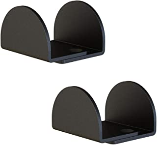 """2 Pack Matte Black Floor Guide Floor Mount Sliding Barn Door Hardware Up to 1-13/16""""W 1-3/8""""H"""