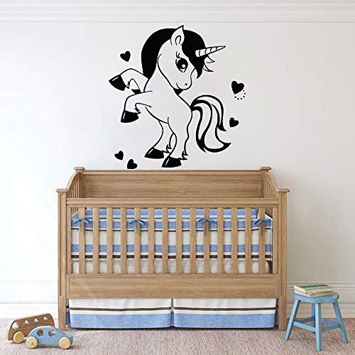 JHGJHGF Anime Pony Kinderzimmer Vinyl Wandtattoos Kinderzimmer Cartoon Wandaufkleber Wohnkultur Pony Haus Aufkleber Mädchen Zimmer Jugendliche
