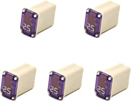 5 PCS 608825 25 Amp Micro Cartridge Fuses - FMM MCASE Type