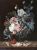 The Museum Outlet–Bouquet de fleurs dans un vase en verre–Impression sur toile en ligne (61x 45,7cm)