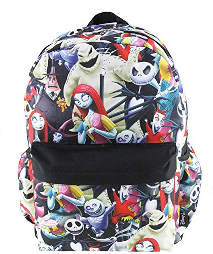 Disney's Nightmare Before Christmas 16 inch All Over Print Deluxe Backpack With Laptop Compartment