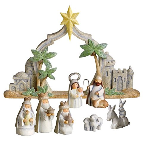 Grasslands Road Gifts of Glory Mini Nativity Scene, Resin