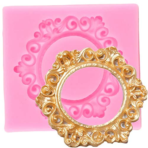 GEYKY Fashion Frame Silicone Molds Cake Border Cake Decorating Tools Cupcake Baking Candy Chocolate Gumpaste Moulds