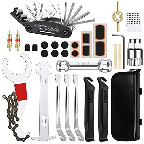 Bicicleta Juego de herramientas de reparación de bicicletas, Herramienta de cadena de bicicleta, Juego de herramientas de reparación de extracción de extractor de eje de cadena de manivela de bicicle